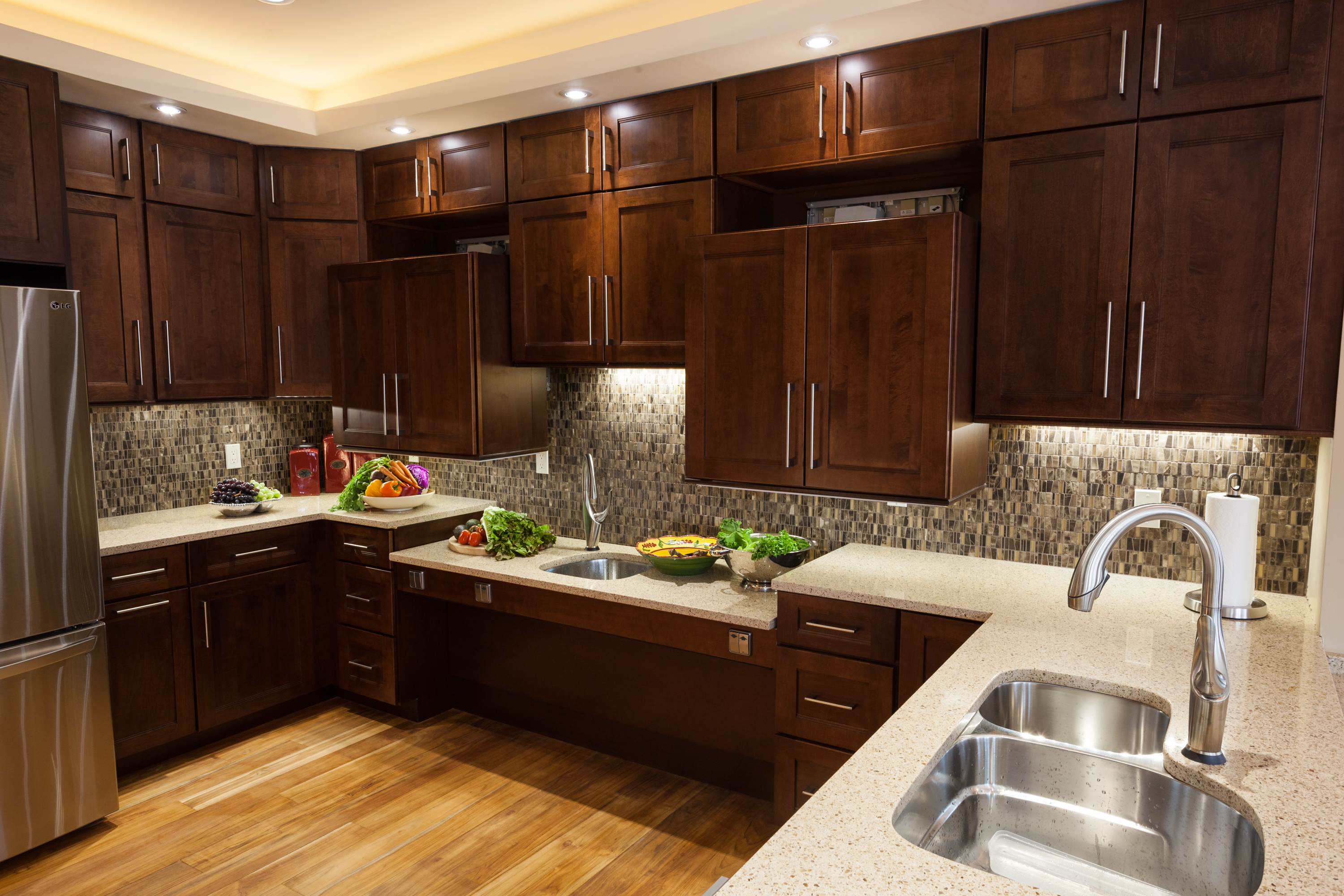 Universal Design Kitchen Cabinets Roll Under North Coast Accessible Homes